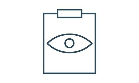 Eye Exam vector icon flat style graphical symbol.