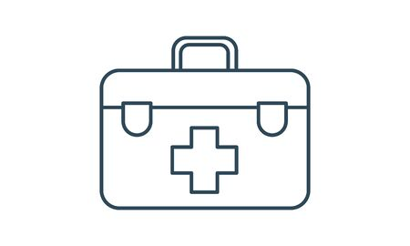 first aid kit icon isolated on white vector image