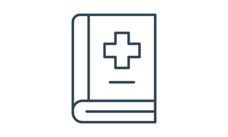 Medical book icon. Handbook, healthcare.