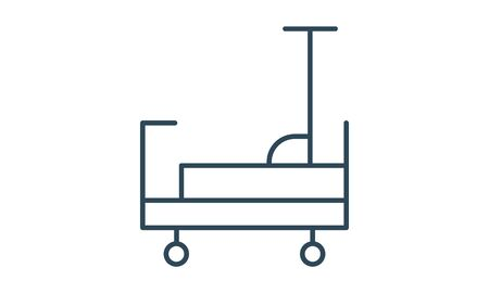 Hospital bed icon, simple style.