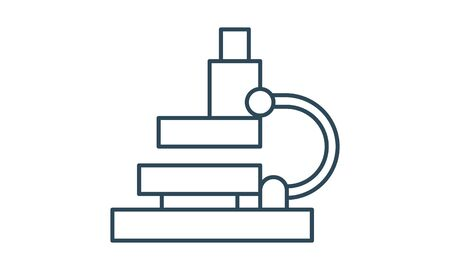 Microscope icon for lab medical laboratory image