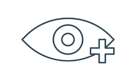 Optometry or ophthalmology icon image