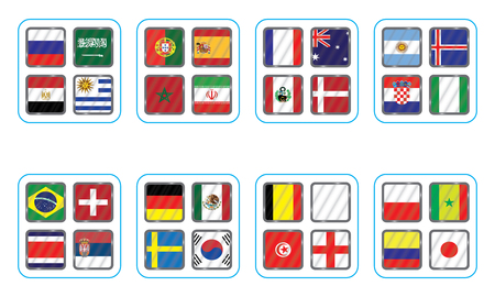 Vector flags of the country. Information graph of the flags of the country.