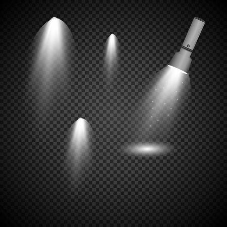 Linterna de luz sobre un fondo transparente