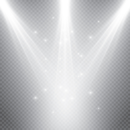 Stage lighting, transparent effects. Bright lighting with spotlights.