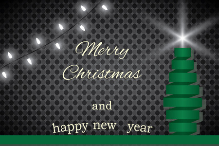 Happy New Year! Merry Christmas. Snow winter.