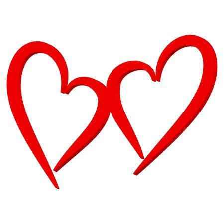 Valentine's day, love. Heart with the inscription. Archivio Fotografico - 138322260