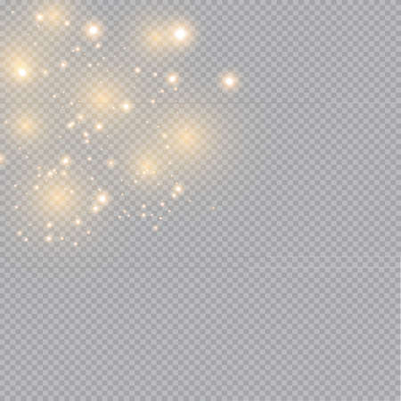 Glow light effect. Vector illustration. Christmas flash dust. White sparks and glitter special light effect. Vector sparkles on transparent background. Sparkling magic dust particles Archivio Fotografico - 157823443