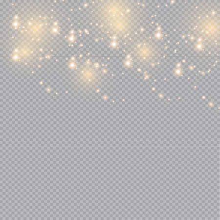 Glow light effect. Vector illustration. Christmas flash dust. White sparks and glitter special light effect. Vector sparkles on transparent background. Sparkling magic dust particles Archivio Fotografico - 157824833
