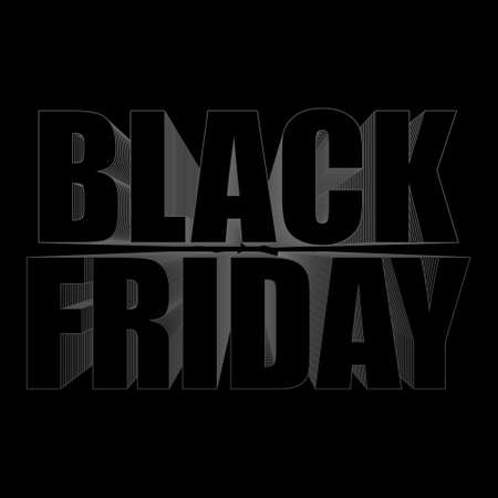 Black friday banner illsutration
