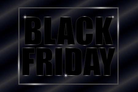 Black Friday banner illustration