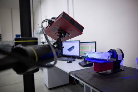 Professional, engineering 3D measurement for plastic moldings, development concept, automotive industrial concept