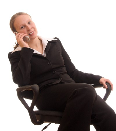 Business woman talking on the phone Stock Photo - 8045032