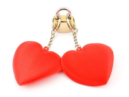 Two hearts on the lock Stock Photo - 8045031