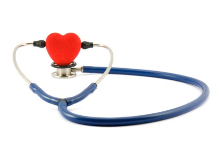 two object: Stethoscope and heart Stock Photo