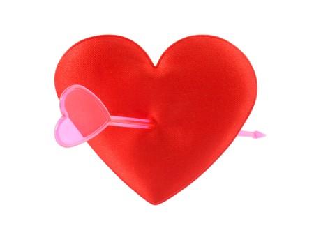 pierced: An arrow pierced his heart.