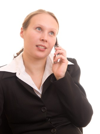 Business woman talking on the phone Stock Photo - 8045024