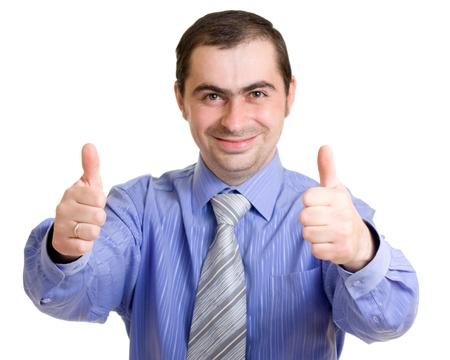 Businessman on a white background. Stock Photo - 9946884