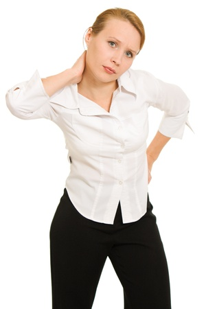 Diseased woman on a white background. Stock Photo - 10550609