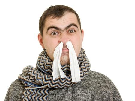 Chory człowiek z katarem. Zdjęcie Seryjne - 11325307
