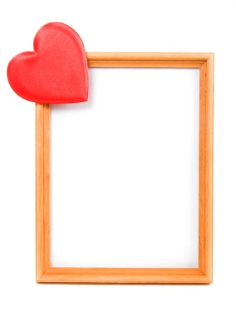 The heart of the picture frame on a white background. Stock Photo