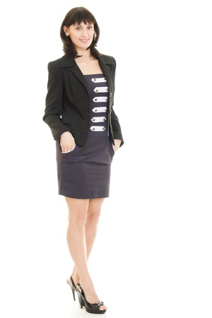 Smiling business woman Isolated over white background Stock Photo - 11901684
