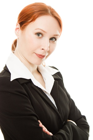 Smiling business woman. Isolated over white background Stock Photo - 12712378