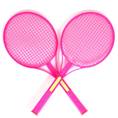 tennis rackets isolated on a white background photo