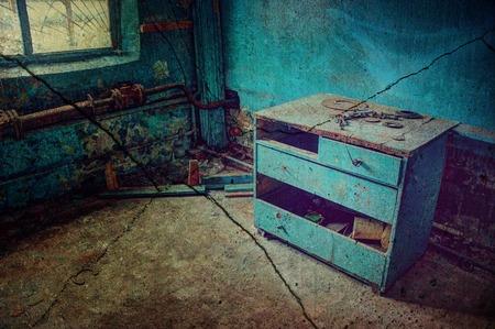 Broken a dresser in the old room.