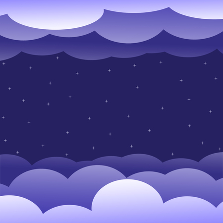 Paper starry sky in the clouds. Stock Photo