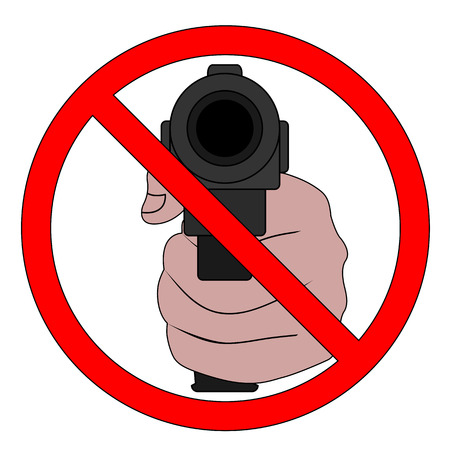 Symbol Of The Prohibition Of Weapons Terrorism And Violence