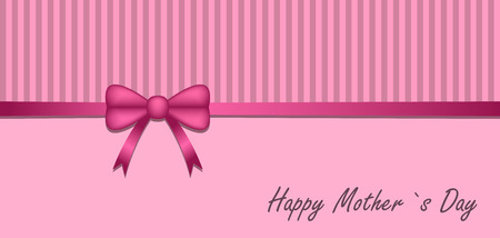 Greeting card with a bow for mothers day.