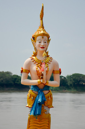 khong river: Angel in Khong river , which is the faith of khong river Stock Photo