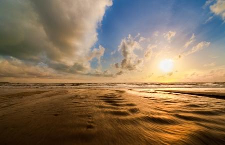 phangnga: Dramatic sunset at Bangsak beach, Phangnga, Thailand