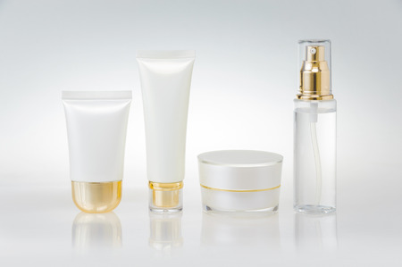 skincare: Set of cosmetic containers