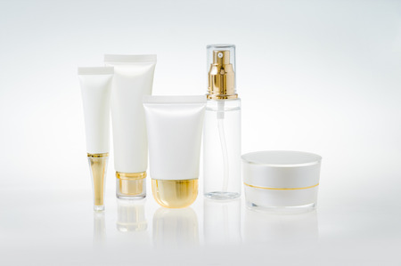 cosmetic cream: Set of cosmetic containers