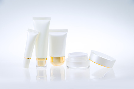 skincare products: Set of cosmetic containers