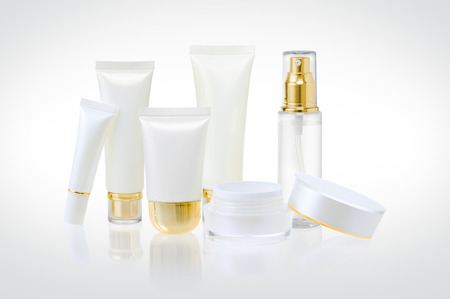 cosmetics products: Set of cosmetic containers