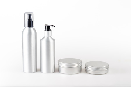 Aluminium cosmetic dispenser bottles and cartridges