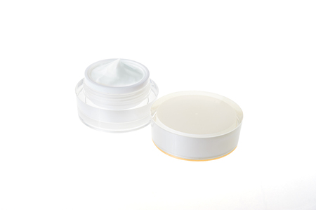 Cosmetic jar isolated on background