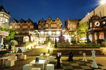 Bangkok, Thailand. - January 21, 2017 : An English style shopping mall name Pickadaily Bangkok locate on Onnuch Rd., Bangkok, Thailand.