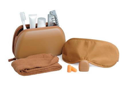 Amenity kits on long-haul international flights. Business Class Essential travel kit Standard-Bild