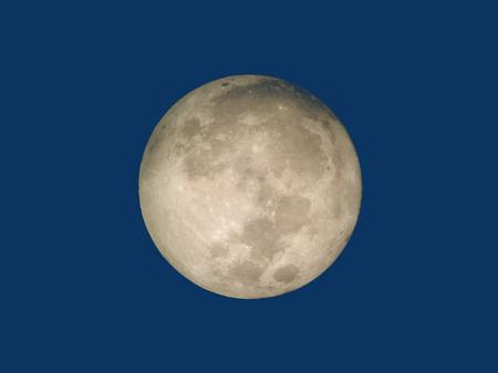 Beautiful full moon before sunrise. Full moon at dawn Standard-Bild