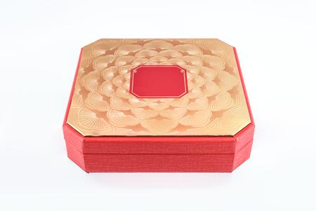 Luxury Chinese pattern style red box Standard-Bild