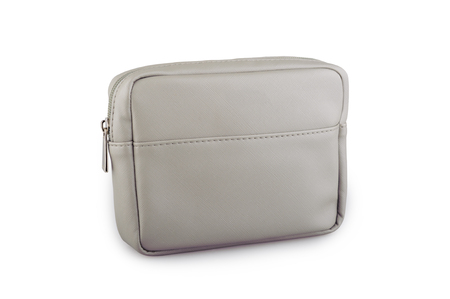 Cosmetic bag. Business Class amenity kit isolated on background