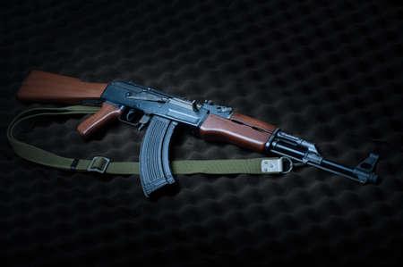 Famous Russia's assault rifle  AK-47.