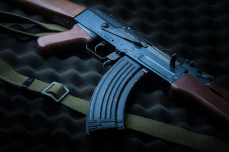 Famous Russia's assault rifle  AK-47.