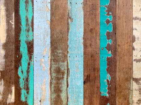 Vertical vintage-looks color wooden background. Vintage color wood planks background
