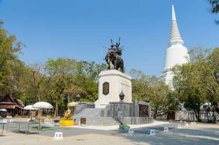 SUPHAN BURI, THAILAND-Februlary 7, 2021: Don Chedi Monumenti, the royal monument of King Naresuan and the pagoda were built to commemorate the victory over the Burmese armies
