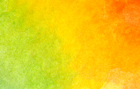 Colorful green, yellow and orange watercolor background - abstract texture Imagens